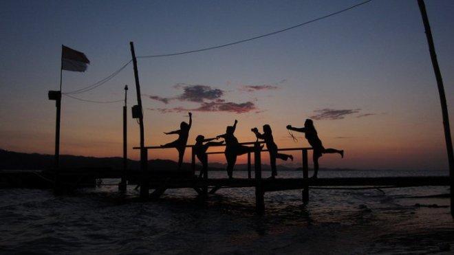 sunset di Gili Nanggu